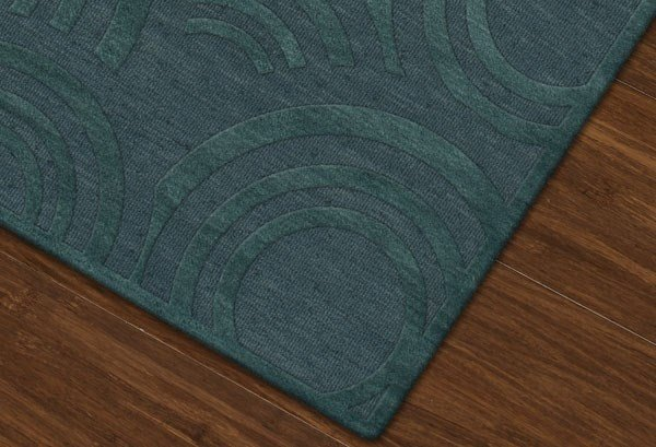 Teal (144) Contemporary / Modern Area Rug