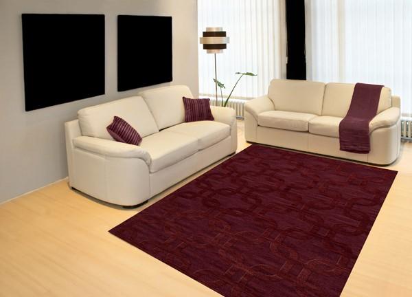Burgundy (150) Contemporary / Modern Area Rug