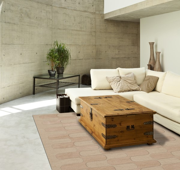 Linen (148) Contemporary / Modern Area Rug