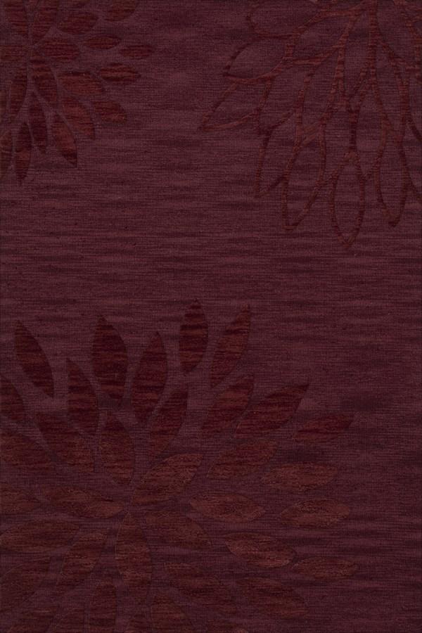 Burgundy (150) Floral / Botanical Area Rug