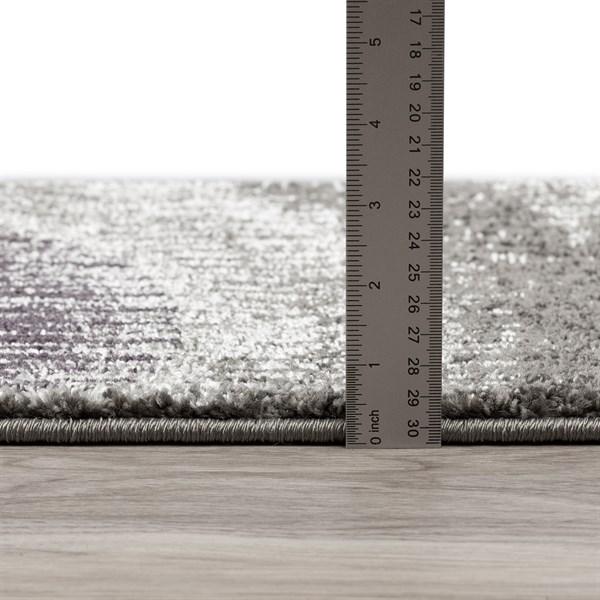 Plum, Grey, Silver Moroccan Area Rug