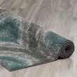 Product Image of Teal, Grey, Silver Moroccan Area Rug