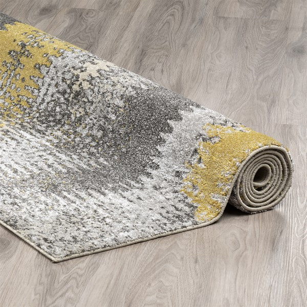 Graphite, Yellow, Grey Transitional Area Rug