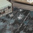 Product Image of Teal, Linen, Silver Contemporary / Modern Area Rug