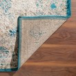 Product Image of Teal, Ivory Vintage / Overdyed Area Rug