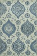 Product Image of Contemporary / Modern Ivory, Blue, Denim Area Rug