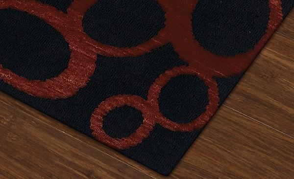 Licorice, Paprika Contemporary / Modern Area Rug