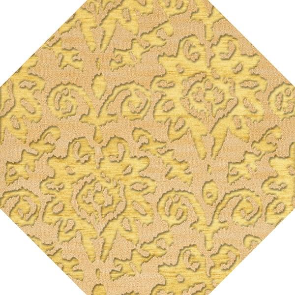 Lemonade, Yellow Damask Area Rug
