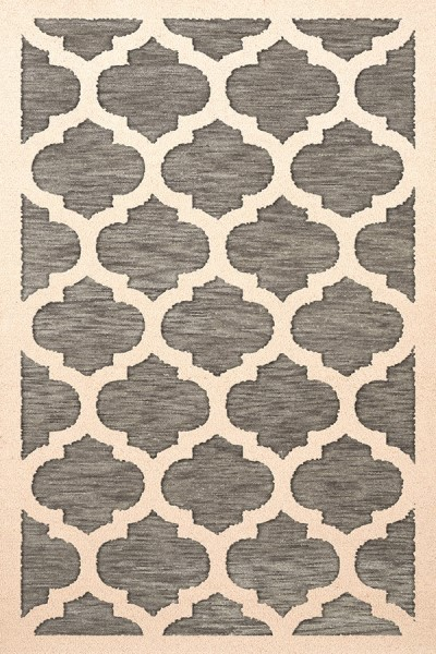 Ash, Ivory Contemporary / Modern Area Rug