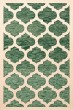 Product Image of Contemporary / Modern Emerald, Ivory Area Rug