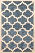 Product Image of Contemporary / Modern Indigo, Ivory Area Rug