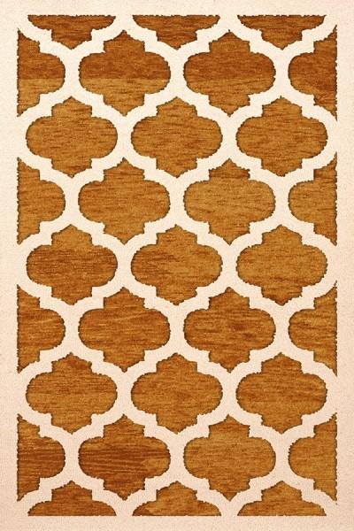 Orange, Ivory Moroccan Area Rug