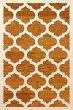 Product Image of Contemporary / Modern Orange, Ivory Area Rug