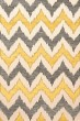 Product Image of Contemporary / Modern Ash, Ivory, Yellow Area Rug