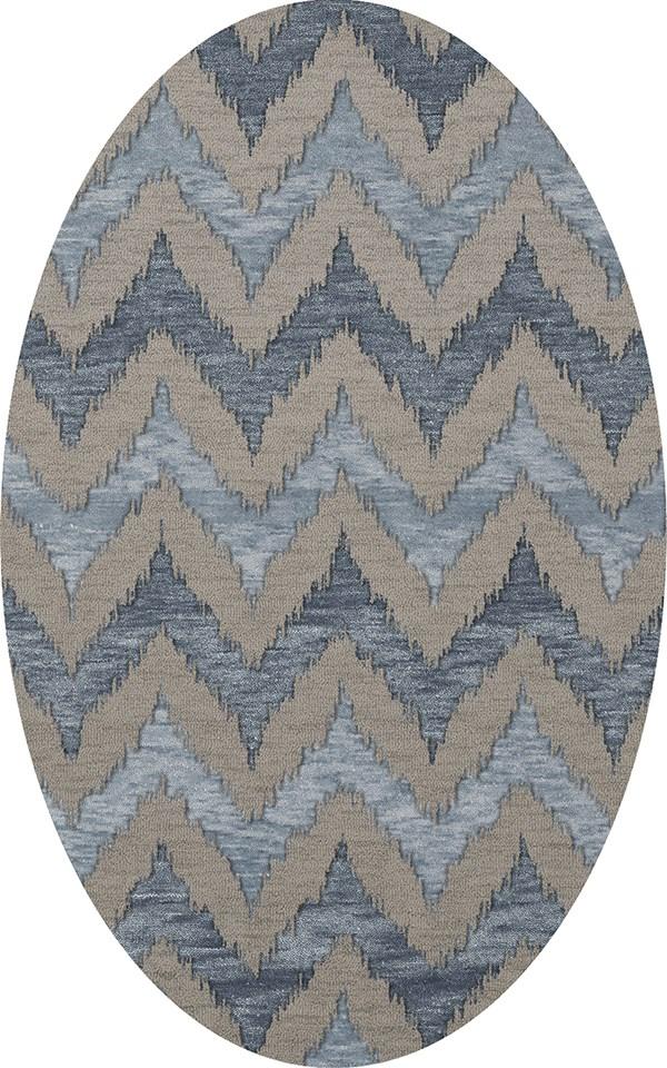 Indigo, Gray, Blue Contemporary / Modern Area Rug