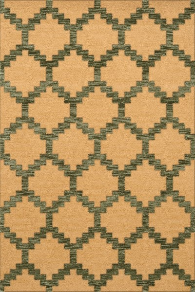 Lasso, Gold Contemporary / Modern Area Rug