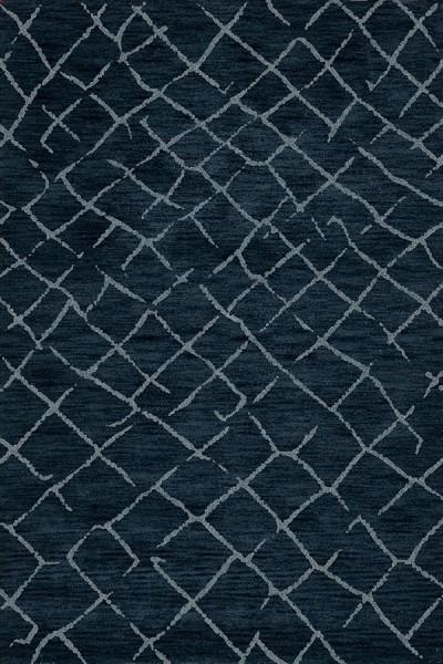 Navy, Blue Moroccan Area Rug