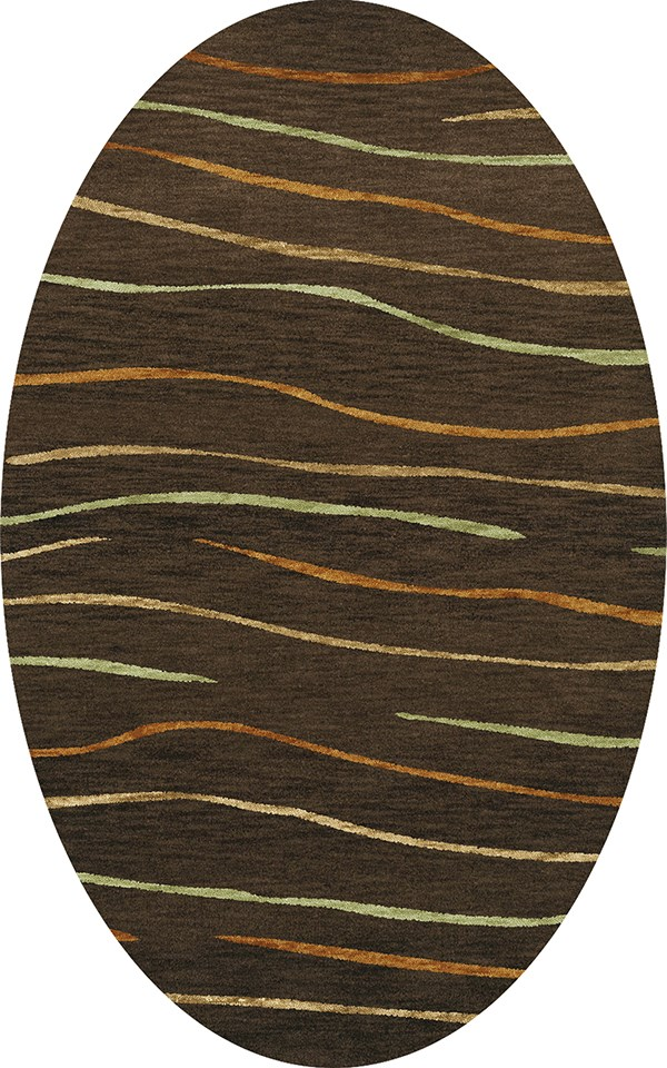 Fudge, Gold, Paprika Transitional Area Rug