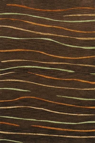 Fudge, Gold, Paprika Contemporary / Modern Area Rug