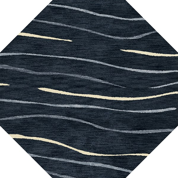 Navy, Blue, Ivory Transitional Area Rug