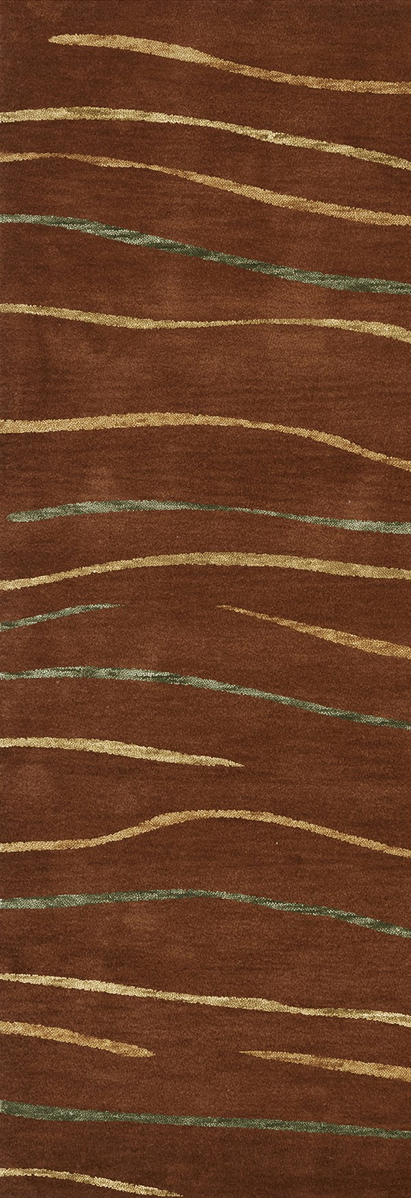 Paprika, Gold, Green Transitional Area Rug