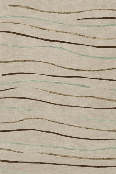 Putty, Brown, Taupe Contemporary / Modern Area Rug