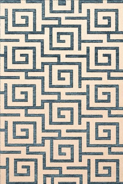 Peacock, Ivory Contemporary / Modern Area Rug