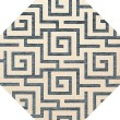 Product Image of Peacock, Ivory Contemporary / Modern Area Rug