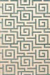 Product Image of Contemporary / Modern Robin Egg, Ivory Area Rug