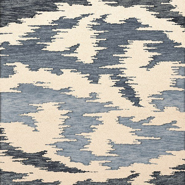 Blue Harbor, Ivory, Blue Contemporary / Modern Area Rug
