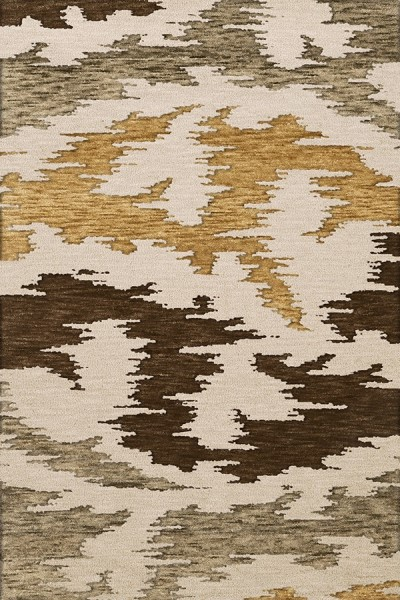Mushroom, Ivory, Brown Contemporary / Modern Area Rug