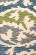 Product Image of Contemporary / Modern Peacock, Ivory, Grey, Green Area Rug