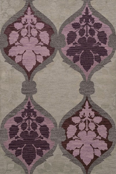 Ash, Grey, Purple, Lavendar Transitional Area Rug