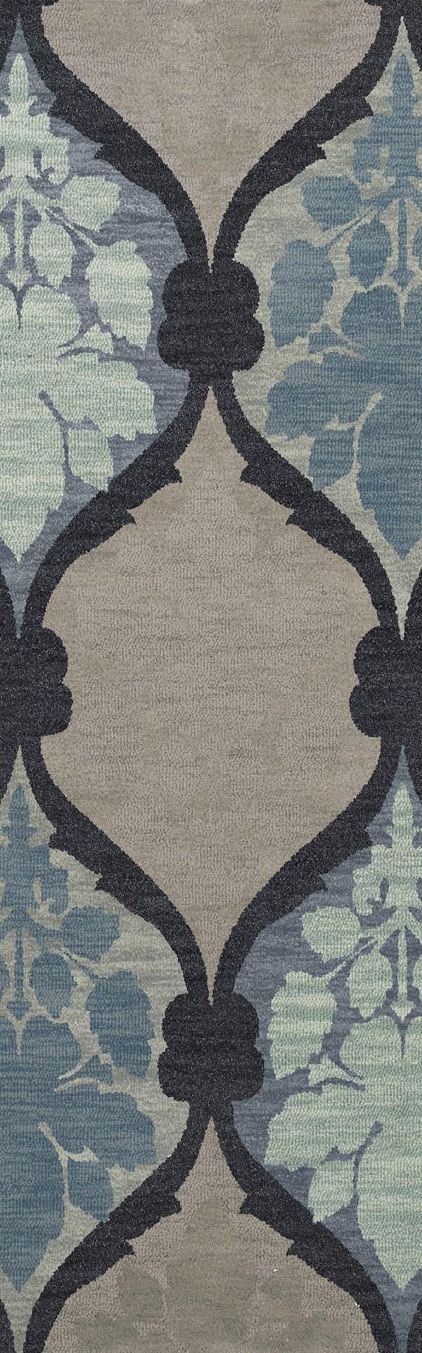Navy, Grey, Blue Transitional Area Rug