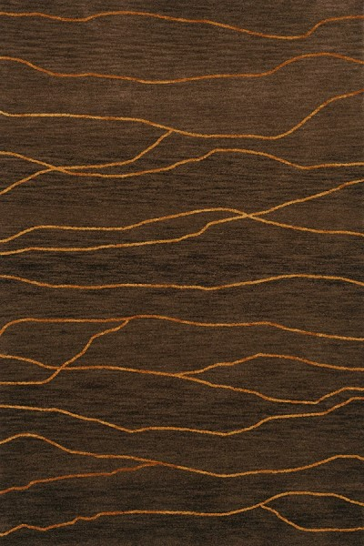 Fudge, Gold Contemporary / Modern Area Rug