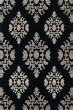 Product Image of Damask Black, Grey Area Rug