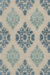 Product Image of Damask Putty, Blue Area Rug