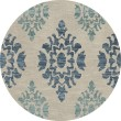 Product Image of Putty, Blue Damask Area Rug