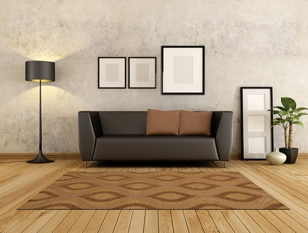 Amber, Gold Contemporary / Modern Area Rug