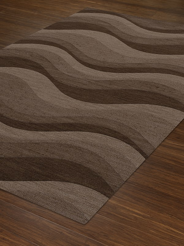 Chipmunk, Brown, Taupe Contemporary / Modern Area Rug