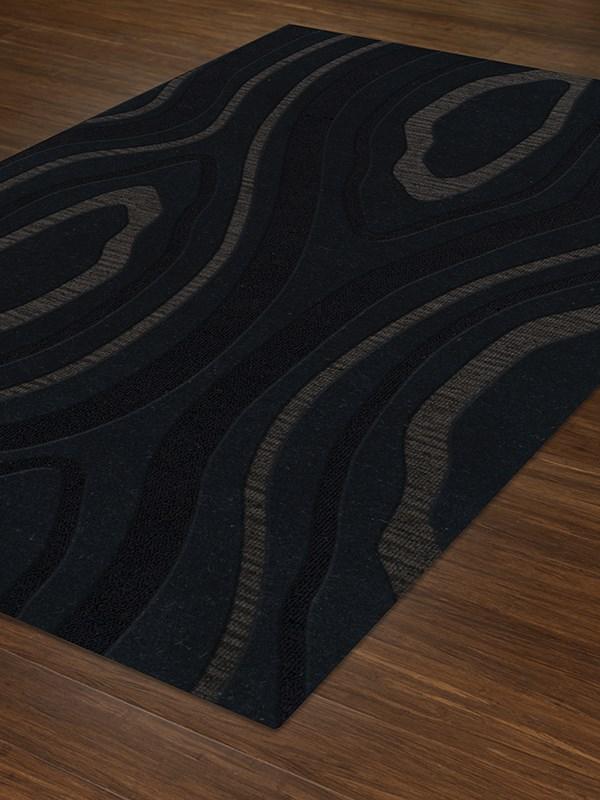 Pepper, Black, Grey Contemporary / Modern Area Rug