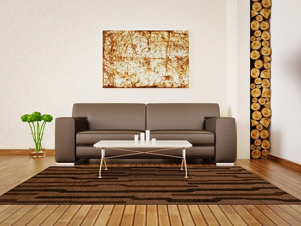 Clove, Brown Transitional Area Rug