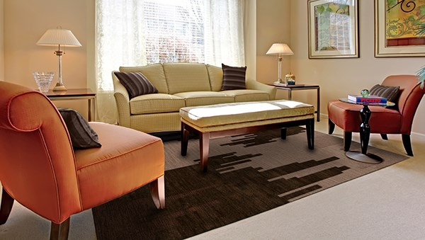 Earth, Brown, Taupe Contemporary / Modern Area Rug