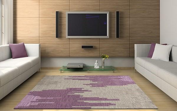 Thistle, Purple, Lavender, Grey Contemporary / Modern Area Rug