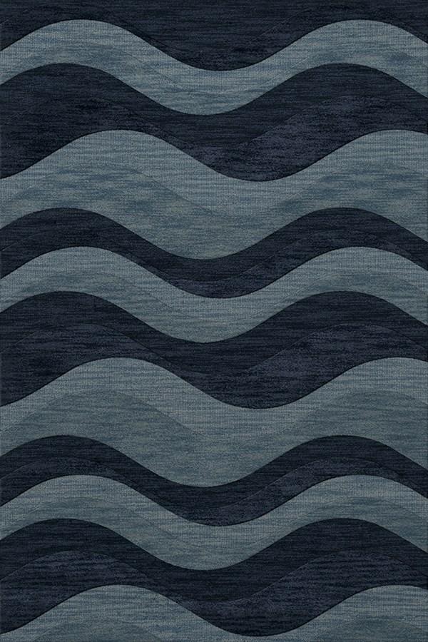 Blue Grotto, Blue Contemporary / Modern Area Rug