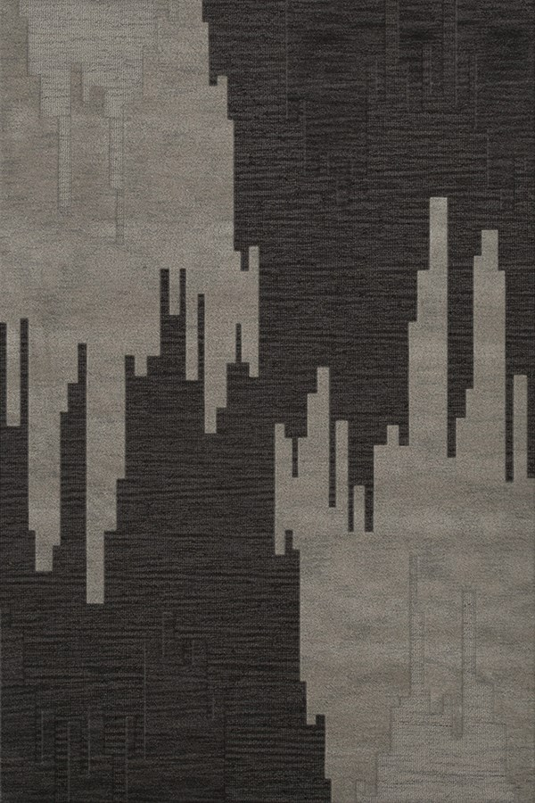 Chinchilla, Grey Contemporary / Modern Area Rug