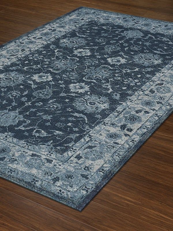 Teal, Ivory Traditional / Oriental Area Rug