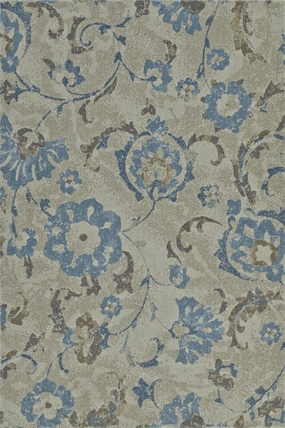 Taupe, Grey, Blue Transitional Area Rug