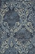 Product Image of Navy, Linen, Grey Damask Area Rug