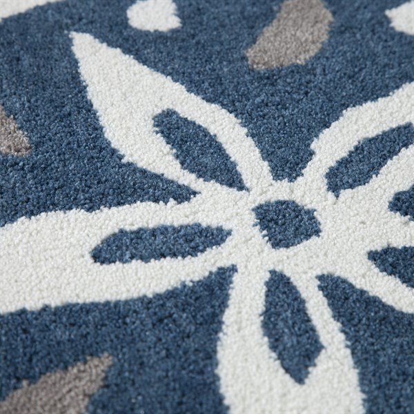 Ivory, Blue, Khaki Beach / Nautical Area Rug
